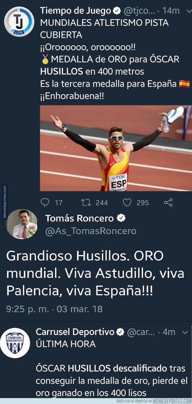 1024070 - Roncero gafa por completo el ORO del atleta español