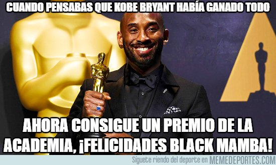 1024257 - Kobe Bryant gana un Oscar por el corto documental de 'Dear Basketball'