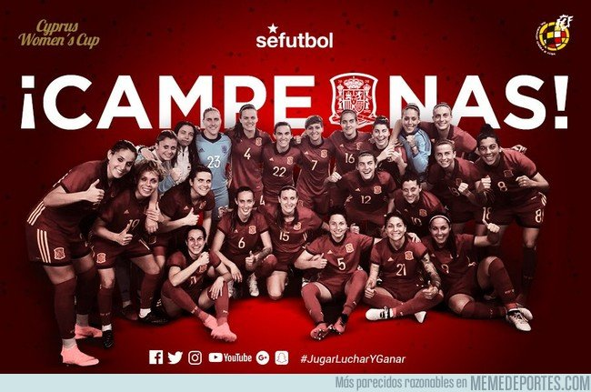 1024671 - La Seleccion Española Femenina campeona de la CyprusWomensCup. Enhorabuena Chicas