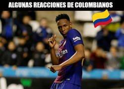 Enlace a Las reacciones de colombianos tras el gol de penalti de Yerry Mina son alucinantes