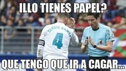 Enlace a Ramos le pide papel a Munuera
