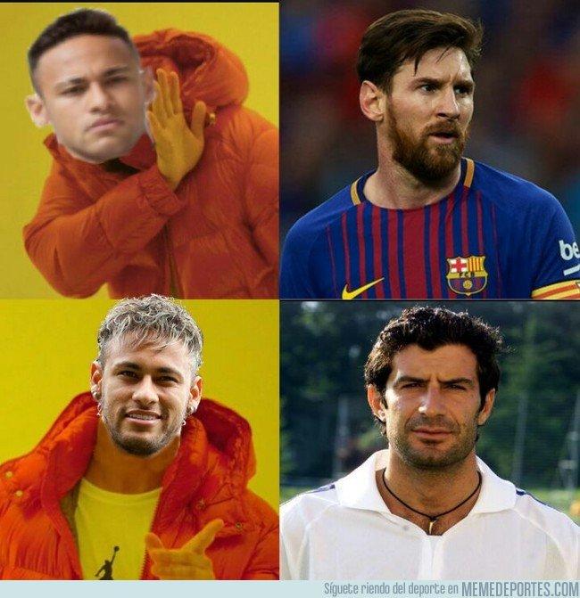 1025178 - Si Neymar finalmente fichara por el Madrid, su respeto en Barcelona sería como a Figo...