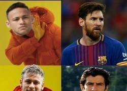 Enlace a Si Neymar finalmente fichara por el Madrid, su respeto en Barcelona sería como a Figo...
