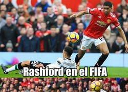 Enlace a Rashford es el mismo crack en la vida real y en el FIFA