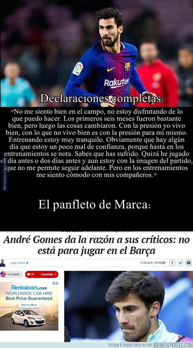1025271 - André Gomes se sincera con sus problemas psicológicos y Marca aprovecha para cortar leña