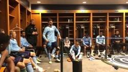 Enlace a El discurso de Villa en el vestuario tras jugar cien partidos en la MLS