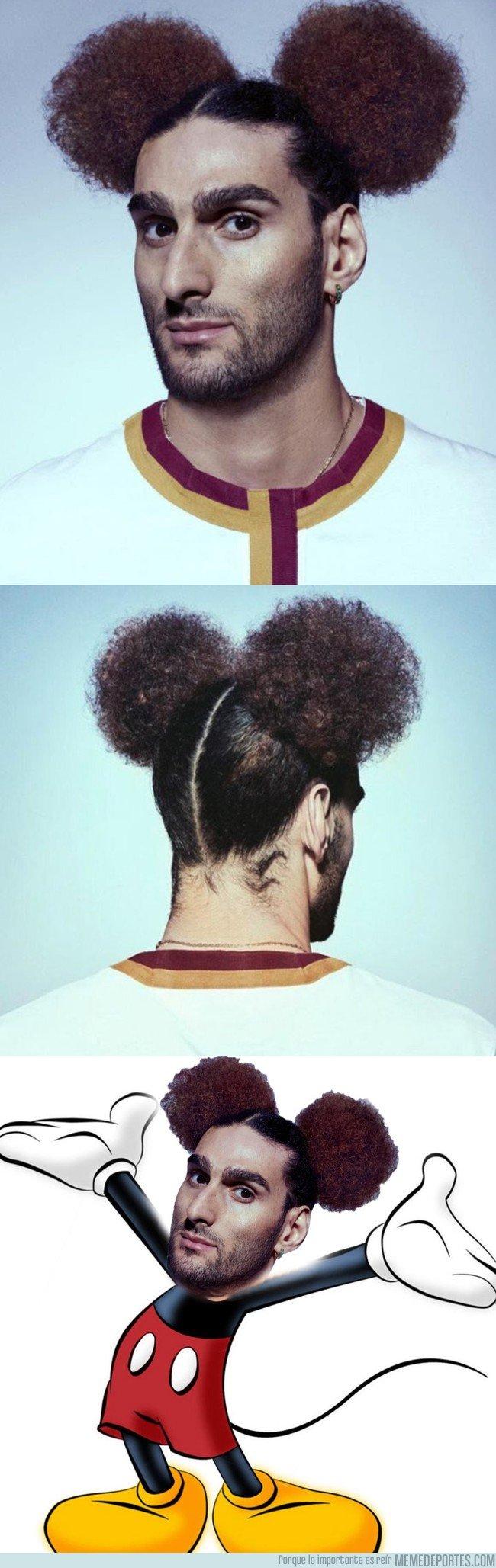 1025348 - El nuevo peinado de Fellaini inspirado en Mickey Mouse