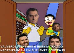 Enlace a Valverde buscando al suplente de Iniesta contra el Chelsea