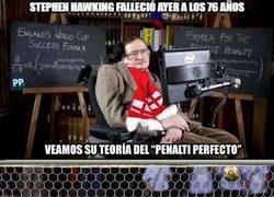 Enlace a Teoría del penalti perfecto, de Stephen Hawking
