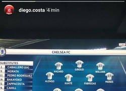 Enlace a Diego Costa la lía en Instagram haciéndole este feo a Conte