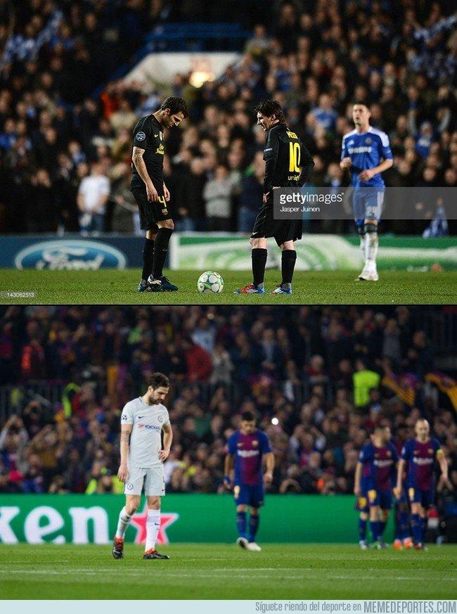 1025675 - Fàbregas, eliminado con el Barça y el Chelsea por los mismos equipos