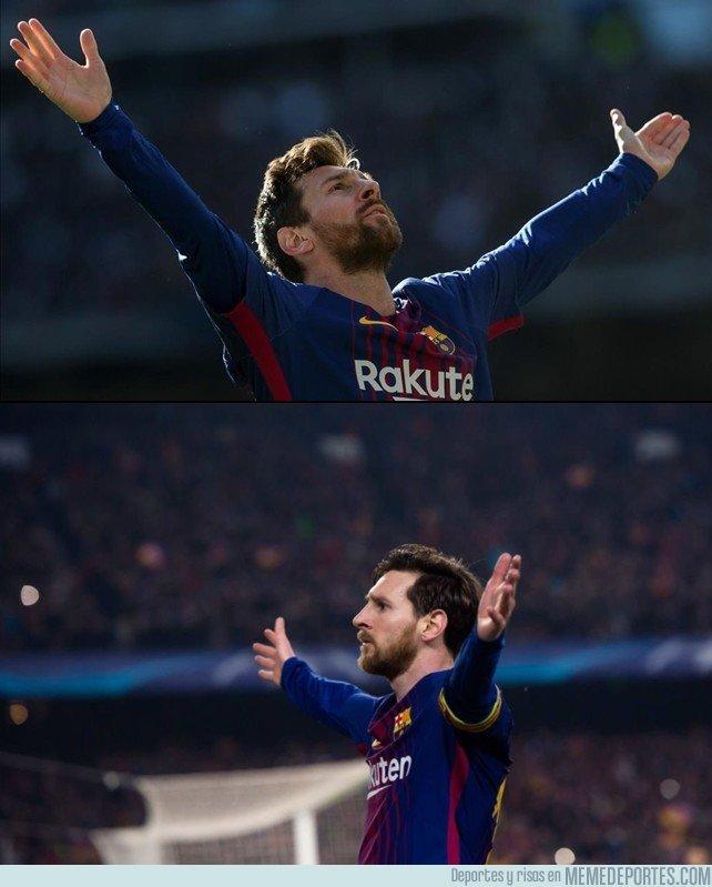1025680 - La nueva celebración patentada de Messi