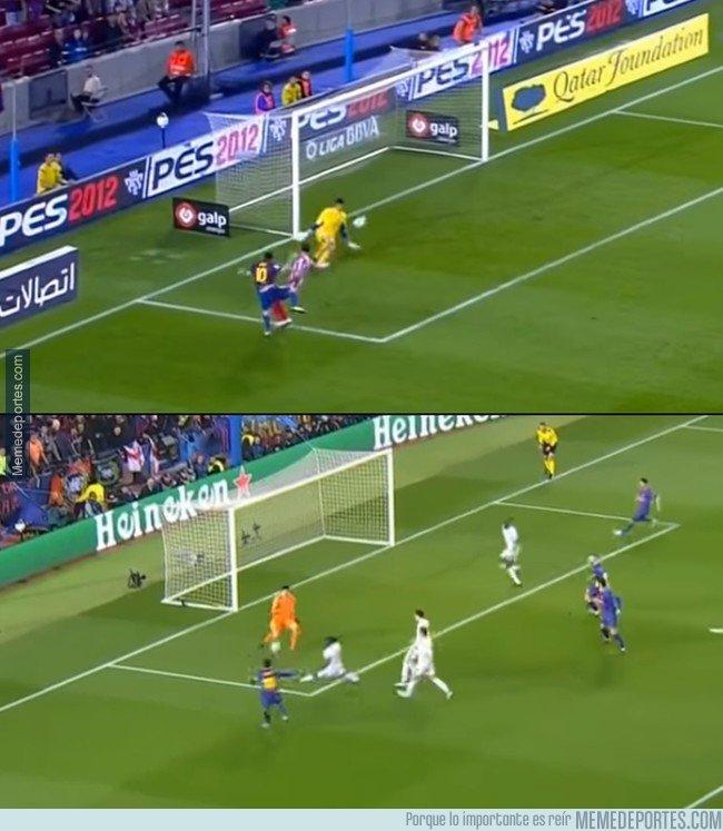 1025689 - Hace 6 años, Courtois en ese mismo estadio, esa misma portería y contra el mismo Messi