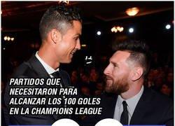 Enlace a Cuánto tardaron Messi y Cristiano en llegar a los 100 goles