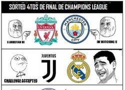 Enlace a Reacciones de Cada Equipo en el Sorteo de Cuartos de Final de Champions League