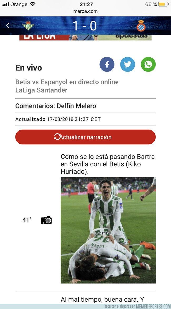 1026019 - Bartra se lo pasa bien en la victoria del Betis 3-0 al Espanyol