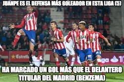 Enlace a Juanpe, defensa del Girona lleva más goles que Benzema siendo delantero