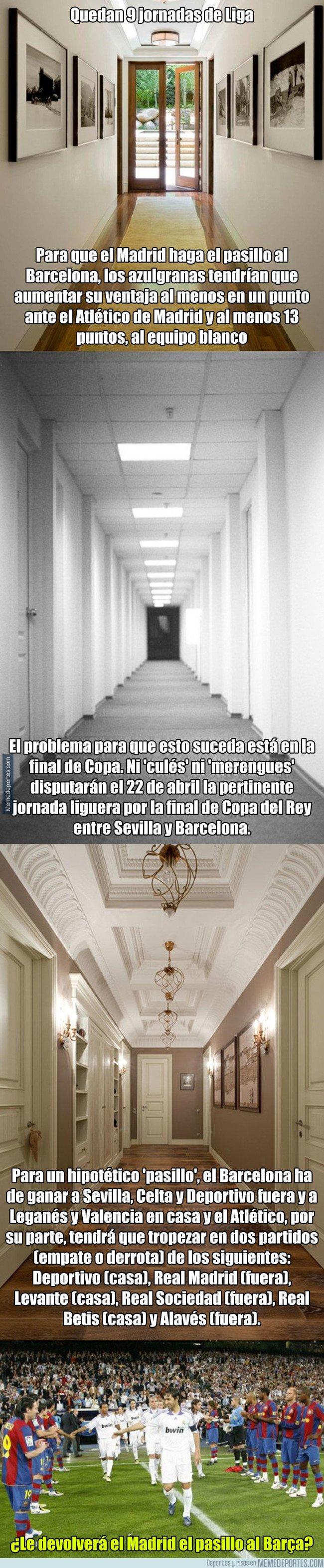 1026300 - Las cuentas para que el Madrid le haga un pasillo al Barça en el próximo Clásico