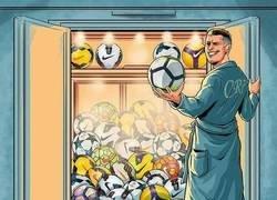 Enlace a Cristiano y sus 50 Hat-tricks, ¿dónde guardará tanto balón?