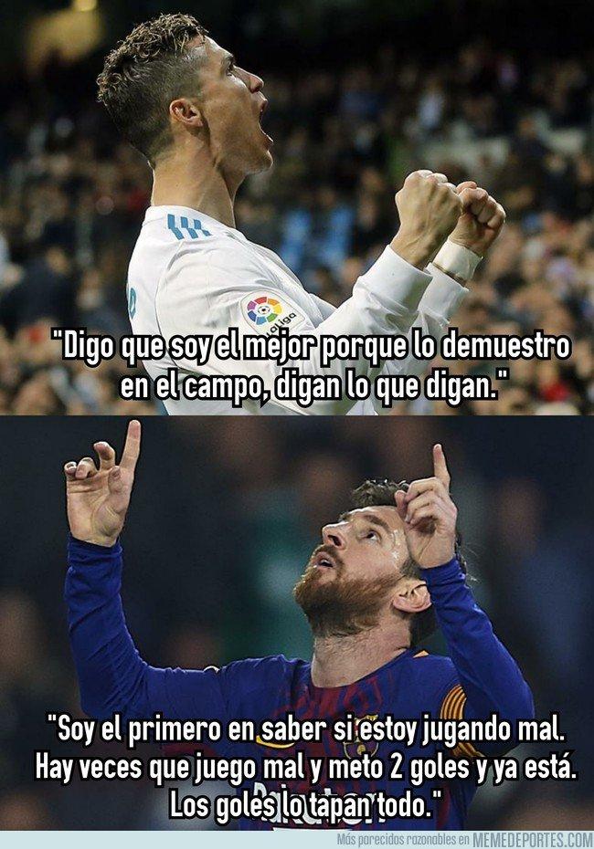1026396 - Cristiano y Messi tienen 2 formas distintas de interpretar lo que es meter goles