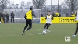 Enlace a El brutal caño de Usain Bolt en el entrenamiento del Borussia Dortmund