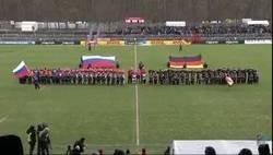 Enlace a En el Rusia-Alemania de rugby suena por error el himno de la URSS en vez del ruso