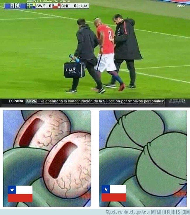 1026892 - Arturo Vidal salió lesionado contra Suecia y enciende las alarmas en Chile...