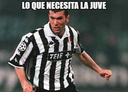 Enlace a Zidane en la Juve