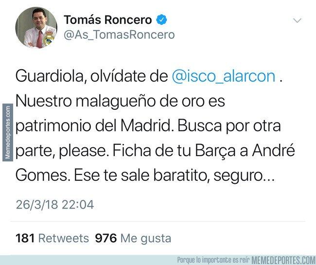 1027031 - Y gracias a este tweet, así es como Isco se fue del Madrid...