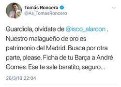 Enlace a Y gracias a este tweet, así es como Isco se fue del Madrid...