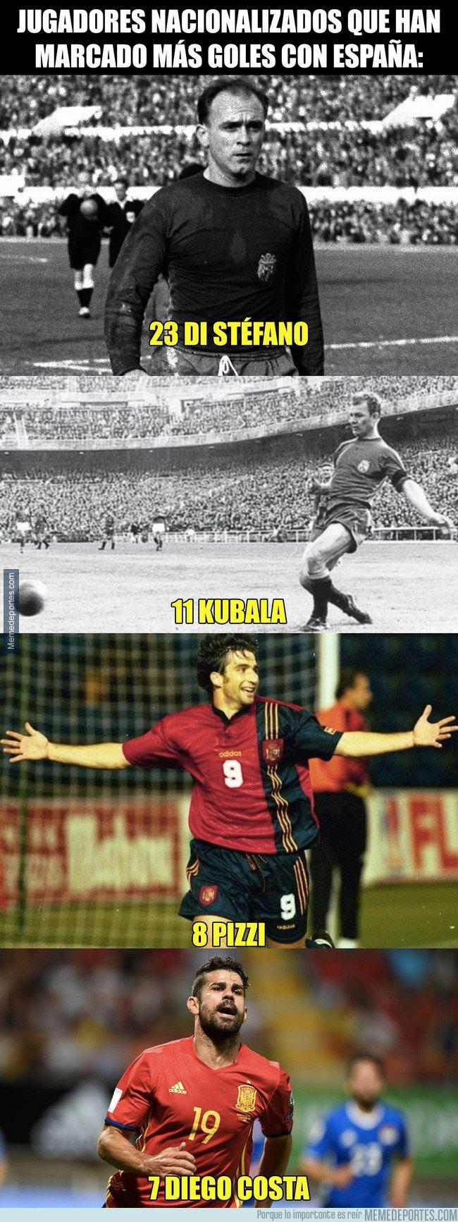 1027098 - Jugadores nacionalizados que han marcado más goles con España: