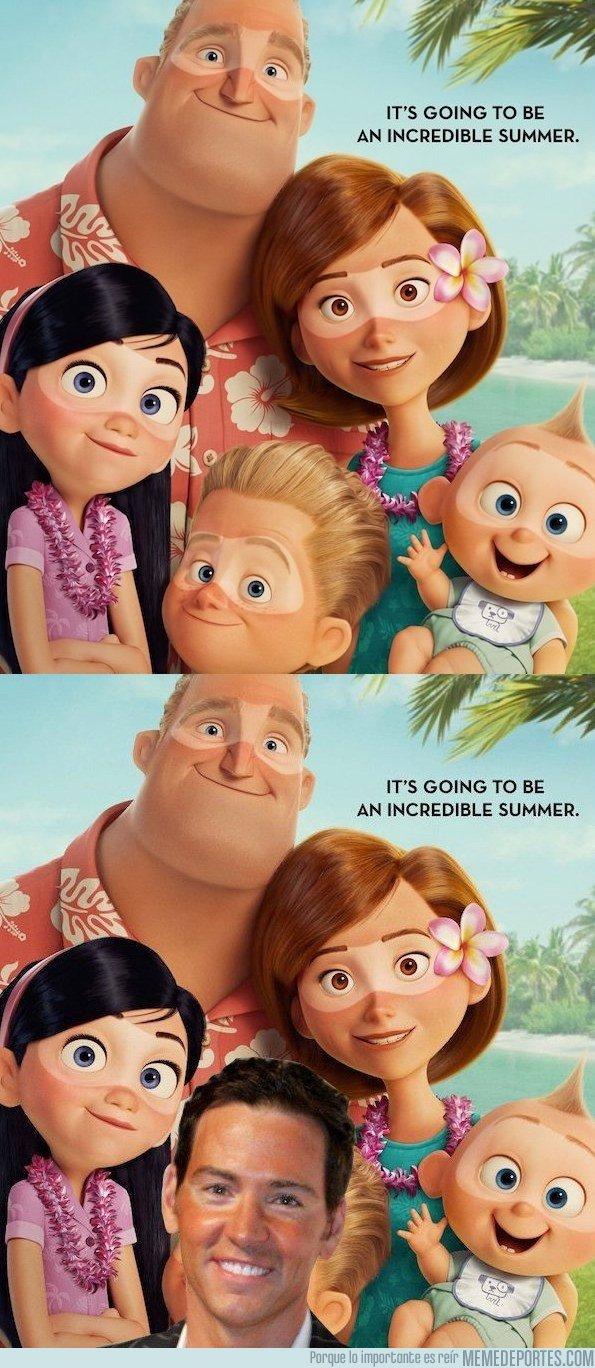 1027302 - Metes a David Meca en el nuevo poster de los Increíbles 2 y pasa desapercibido, por @gazpachoblog