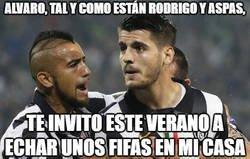 Enlace a Vidal tiene un plan para Morata