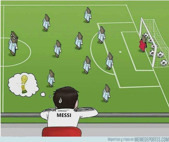 1027393 - Si alguna vez te sientes solo, recuerda a Messi en La selección Argentina