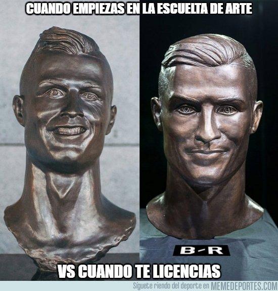 1027418 - Emmanuel Santos demuestra que ha mejorado bastante con el busto de Cristiano
