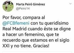 Enlace a Jugadora del Valencia Femenino le mete un zasca a Roncero