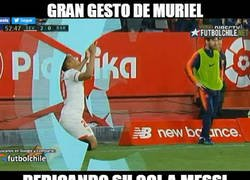 Enlace a Muriel admira mucho a Messi