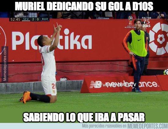 1027695 - La reverencia de Muriel a Messi