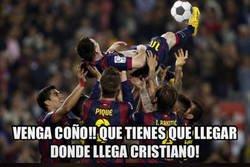 Enlace a Hoy Messi también marca de chilena, ya practican la jugada