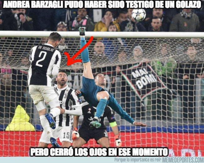 1028165 - Barzagli se perdió el gol de chilena de Cristiano