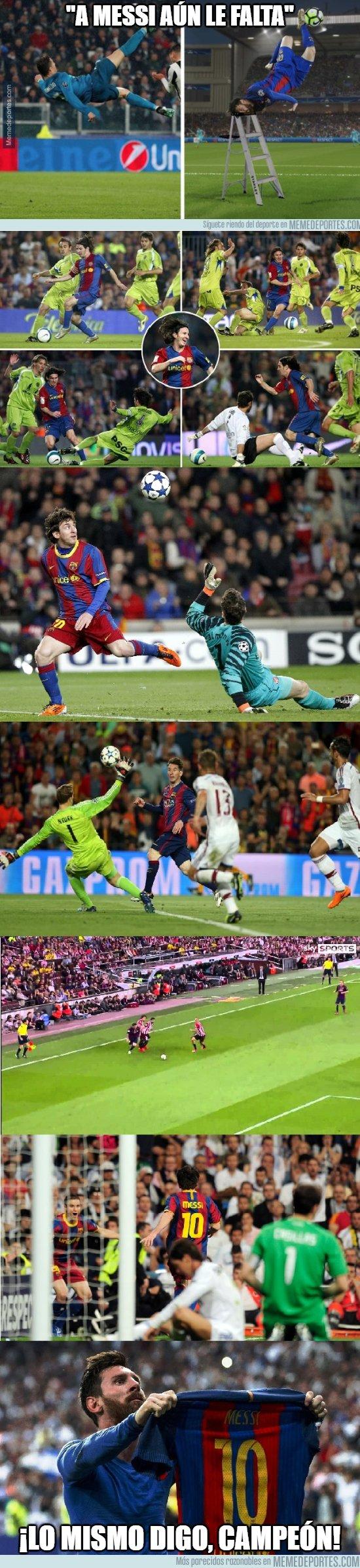 1028378 - Lo que tiene que decir Messi sobre la chilena de CR7