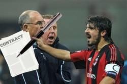 Enlace a Imágenes exclusivas de Gattuso renovando con el Milan
