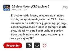 Enlace a Usuario lumbreras nos ilustra la diferencia entre Messi y Cristiano