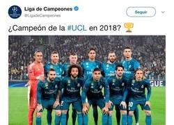Enlace a La UEFA publica un tweet demasiado madridista y todo el mundo se les echa encima