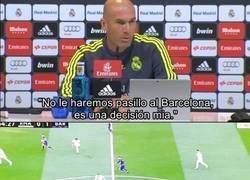 Enlace a Zidane explica porqué no habrá pasillo