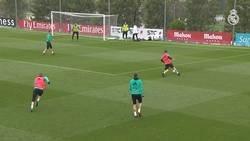 Enlace a Cristiano repite la chilena en un entrenamiento y su próximo objetivo es el Atlético