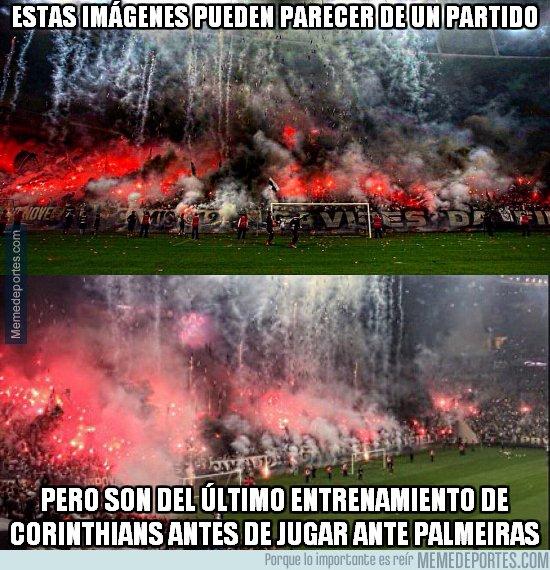 1028830 - Las increibles imágenes del entrenamiento de Corinthians, vía @Juezcentral