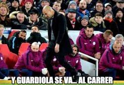 Enlace a Guardiola tras el gol de Salah