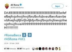 Enlace a Así nos imaginamos al CM de la Roma en Twitter