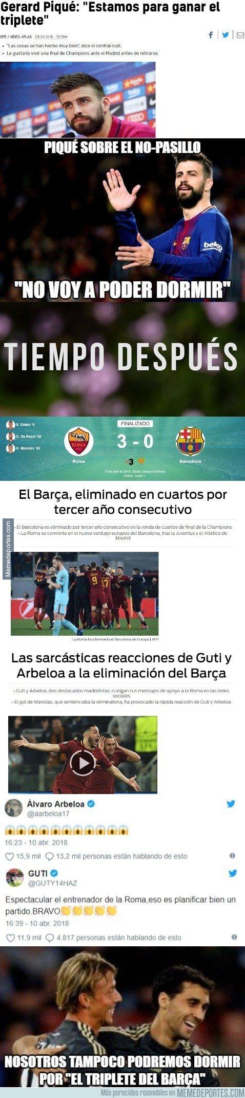 1029439 - Los tweets de Arbeloa y Guti haciendo fuego de la derrota del Barça